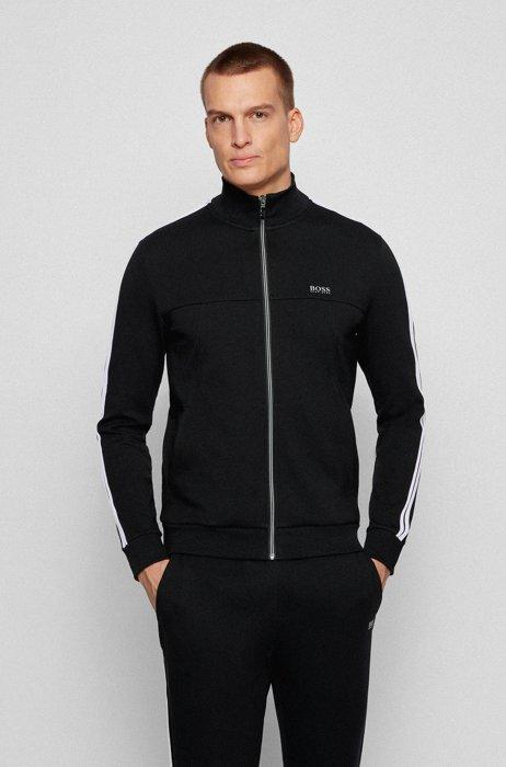 Regular-fit tracksuit in cotton-blend jersey , Black