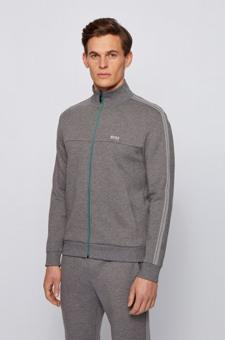 Regular-fit tracksuit in cotton-blend jersey , Grey