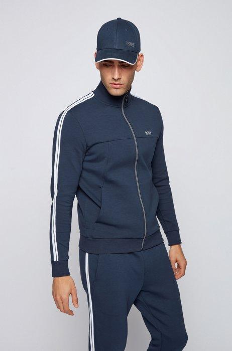 Regular-fit tracksuit in cotton-blend jersey , Dark Blue