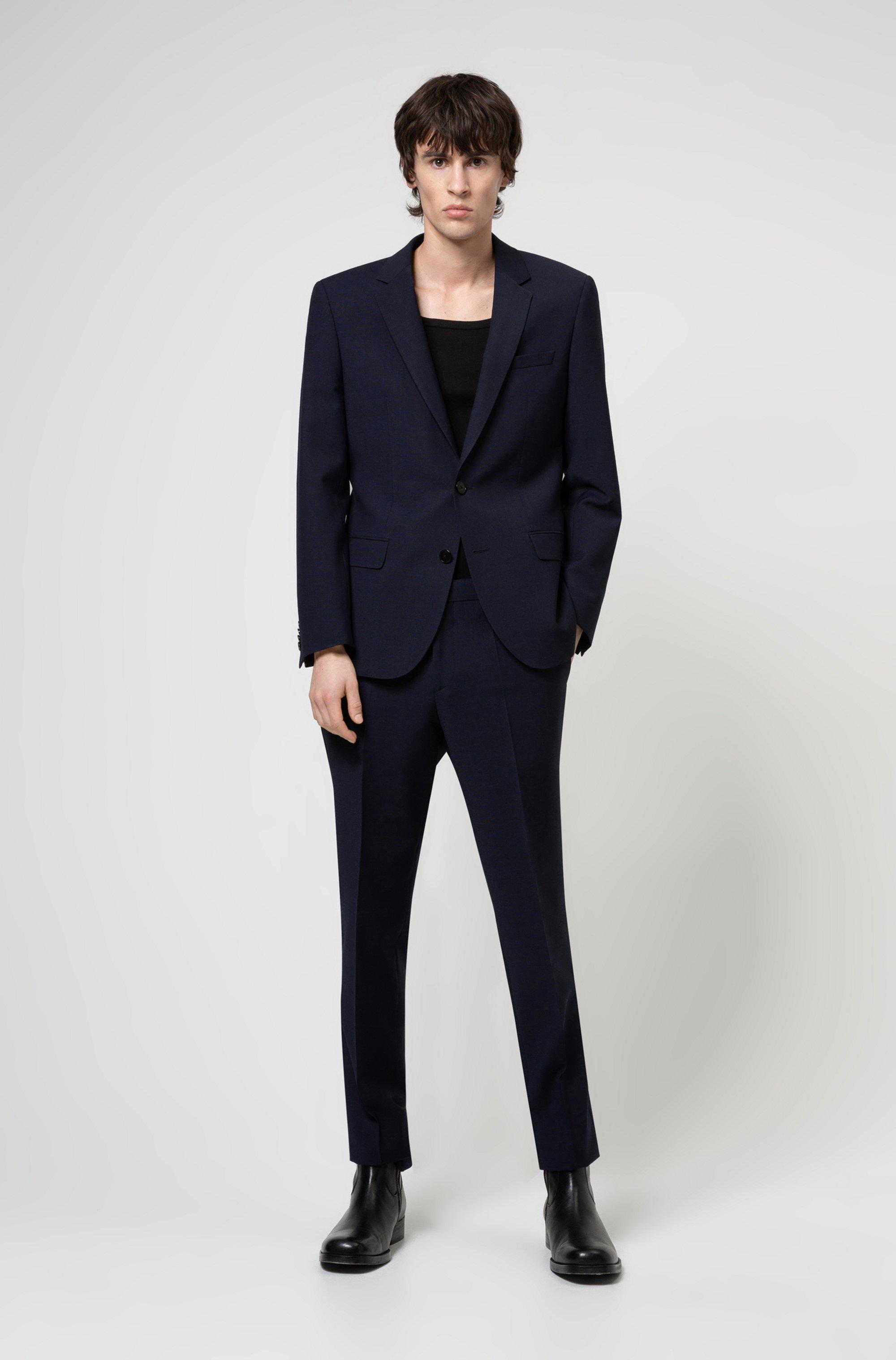 Slim-fit suit in a super-flex wool blend