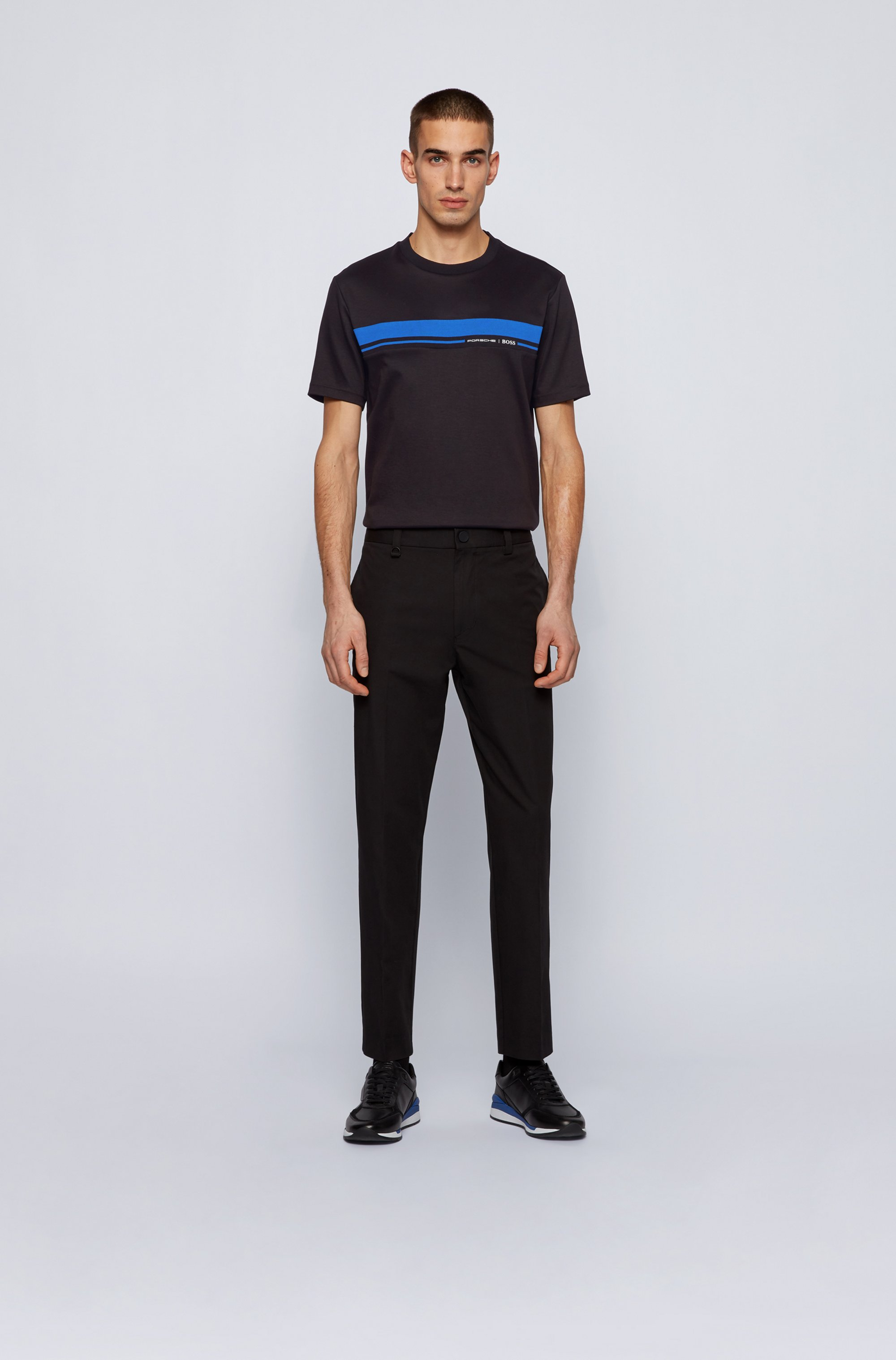 T-Shirt aus Baumwolle mit Rundhalsausschnitt und Print der Kollektion