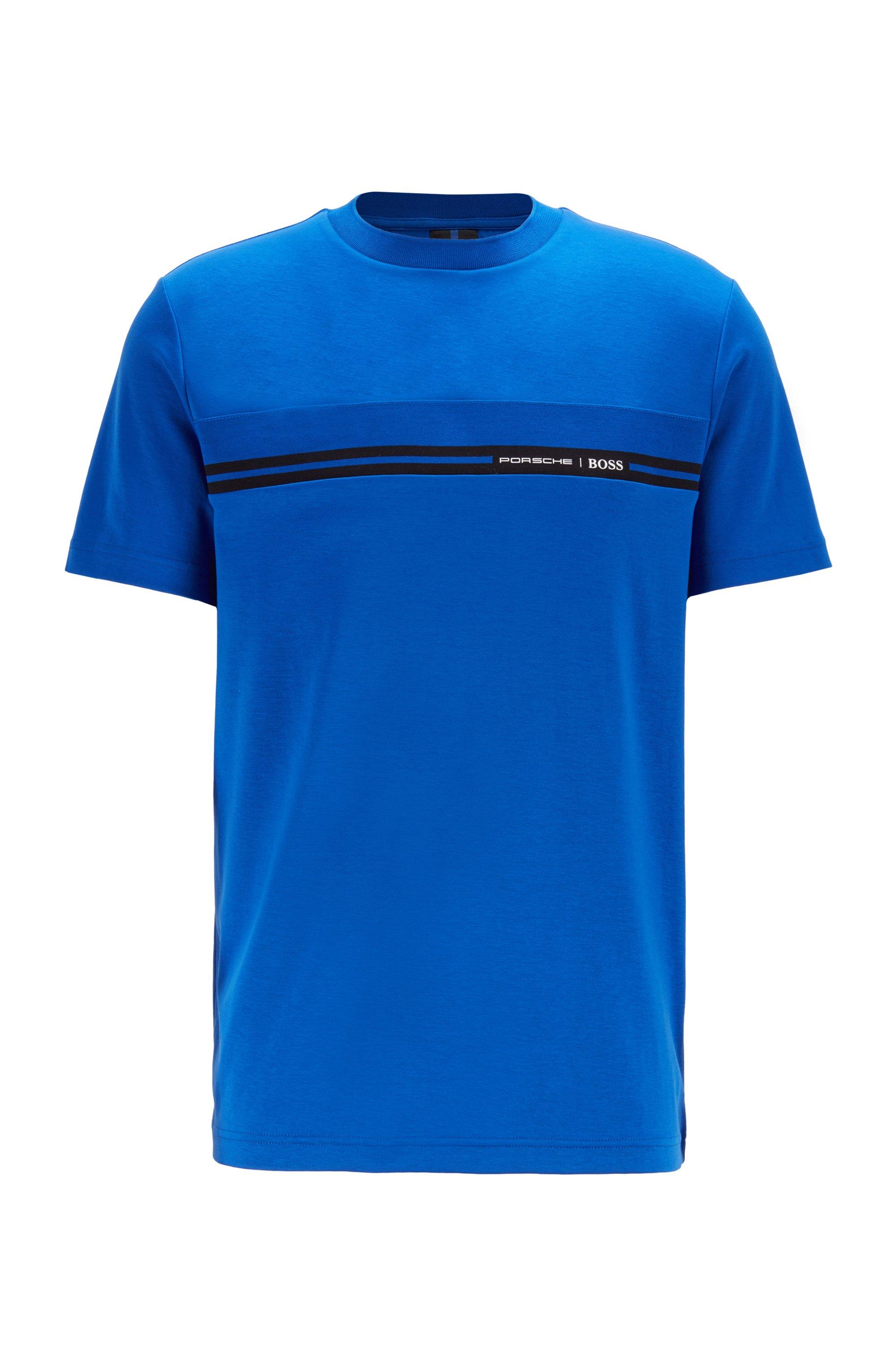 T-Shirt aus Baumwolle mit Rundhalsausschnitt und Print der Kollektion, Blau