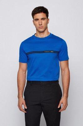コットン クルーネックTシャツ コレクションテーマプリント, ブルー