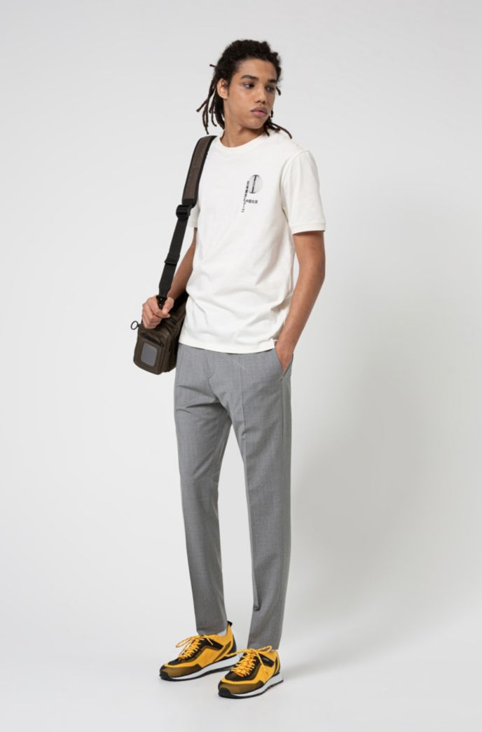 Extra-slim-fit trousers in a wool blend