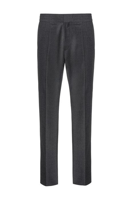 Pantalon Extra Slim Fit en laine mélangée, Gris sombre
