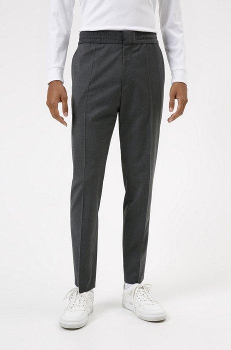 Extra-slim-fit pants in a wool blend, Dark Grey