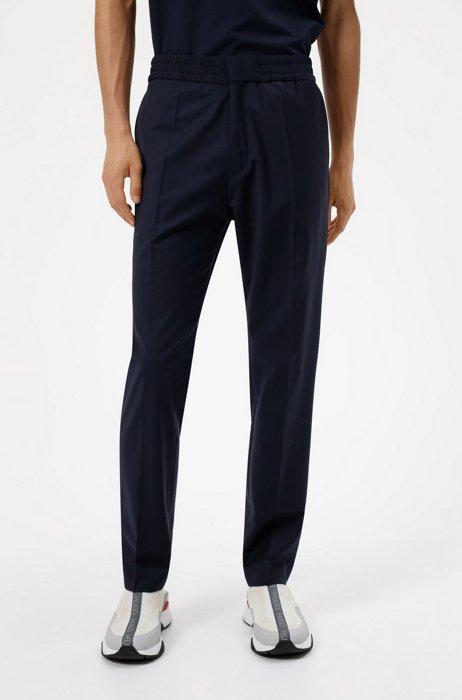 Extra-slim-fit pants in a wool blend, Dark Blue