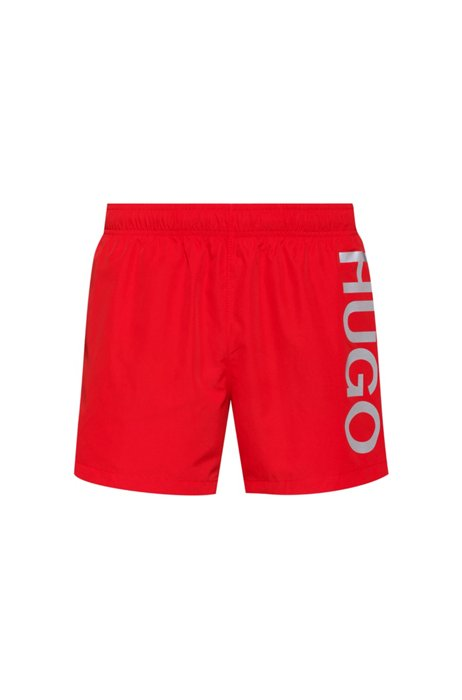Quick-dry logo swim shorts in recycled fabric, light pink