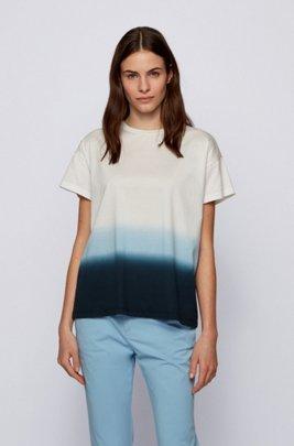T-shirt Relaxed Fit en jersey de coton effet dip-dye, Fantaisie