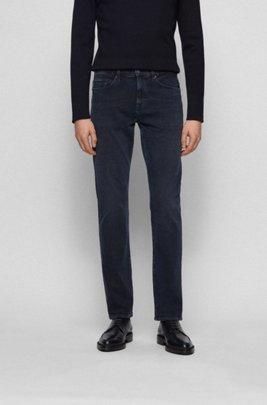 Slim-fit jeans in super-soft Italian stretch denim, Dark Blue