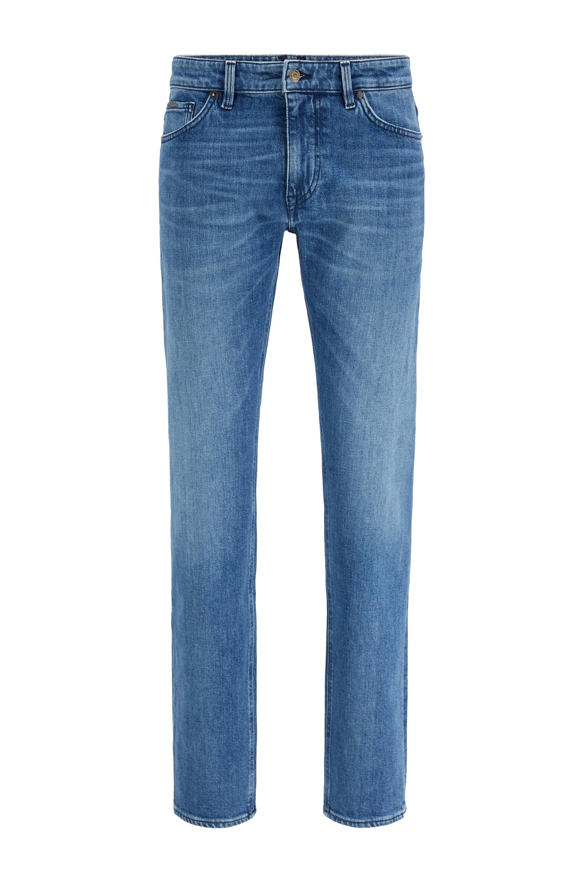 Regular-fit jeans van blauw Italiaans denim, Blauw