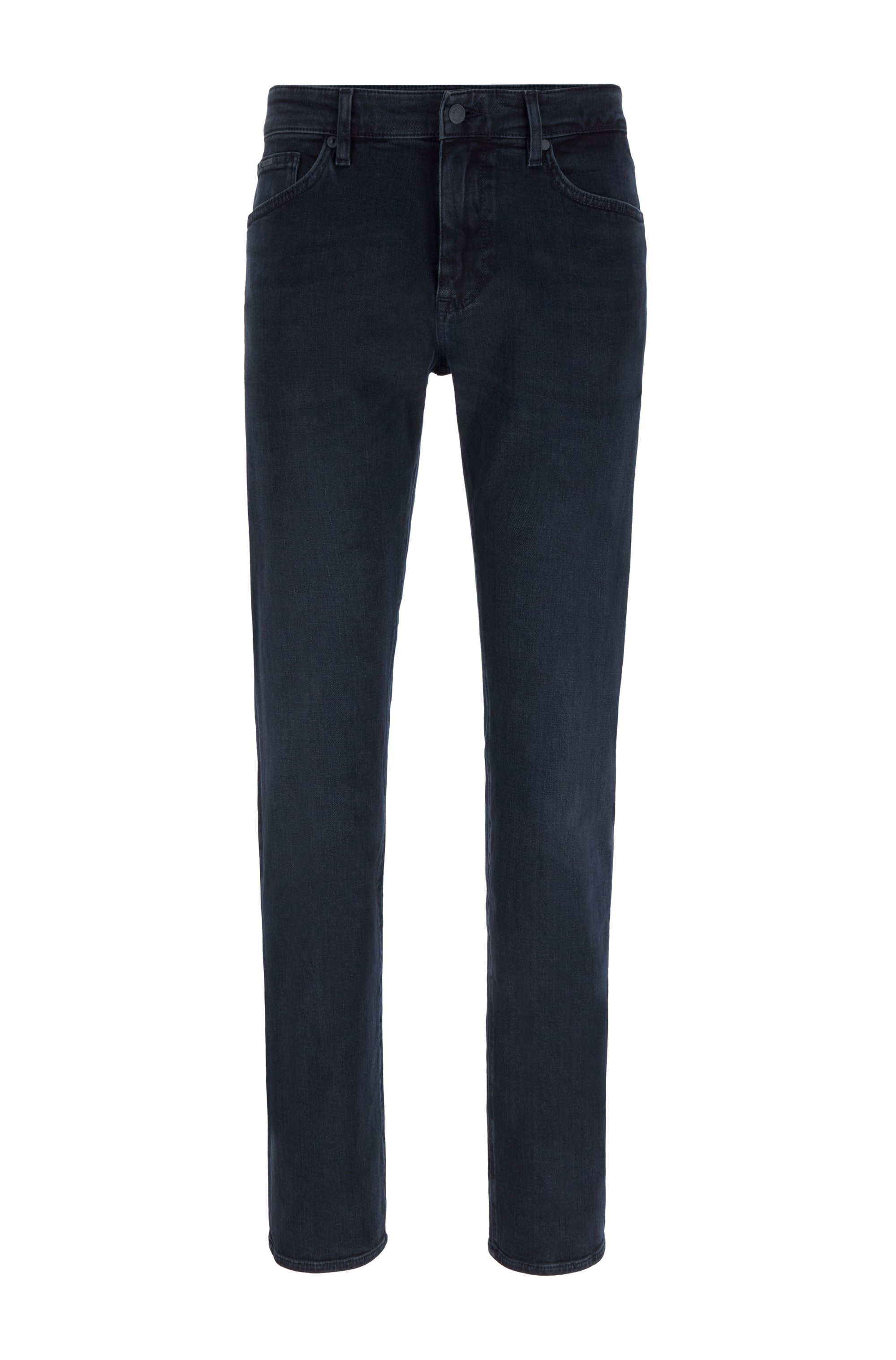 Jeans regular fit in denim blu grigio extra morbido, Blu scuro