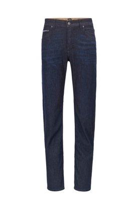 Jeans relaxed fit in denim elasticizzato italiano blu scuro, Blu scuro