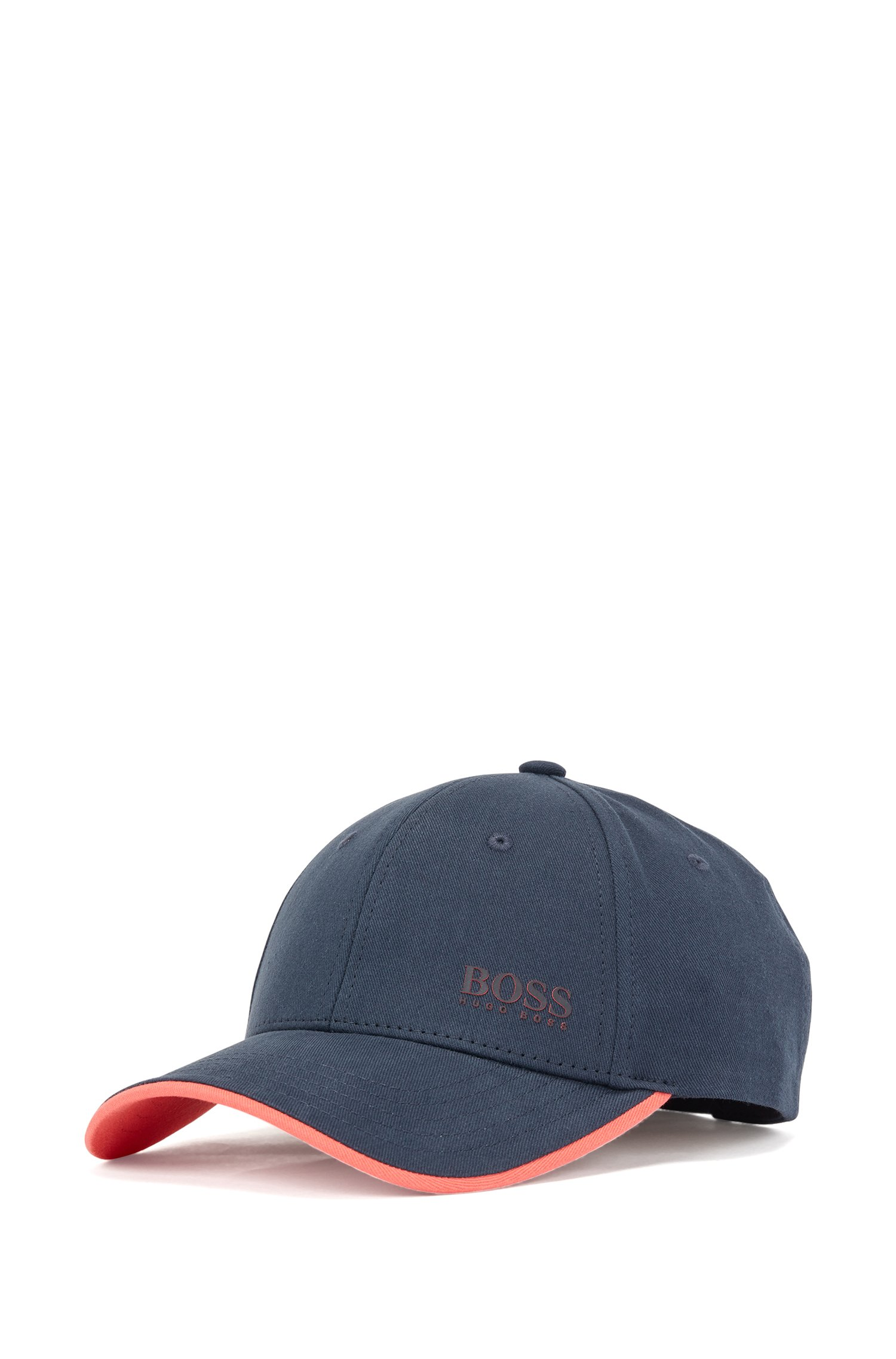 Logo-print cap in cotton twill with contrast accents, Dark Blue
