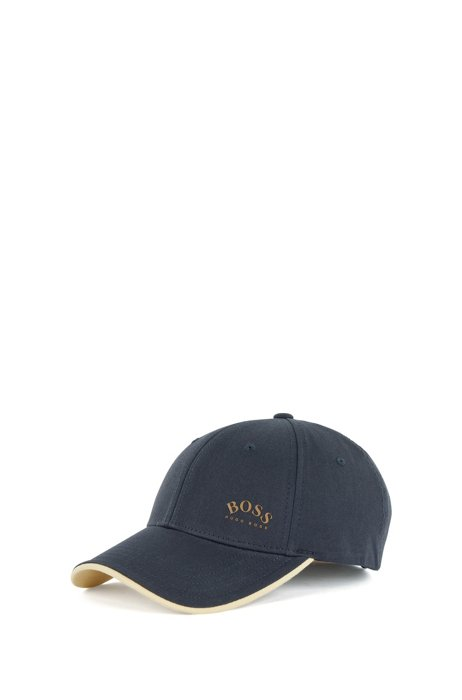 Logo-print cap in cotton twill with contrast accents, Blue