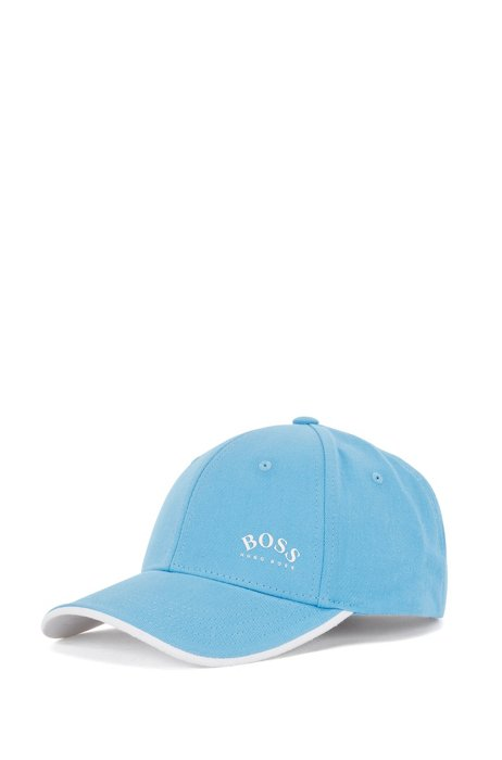 Logo-print cap in cotton twill with contrast accents, Light Blue