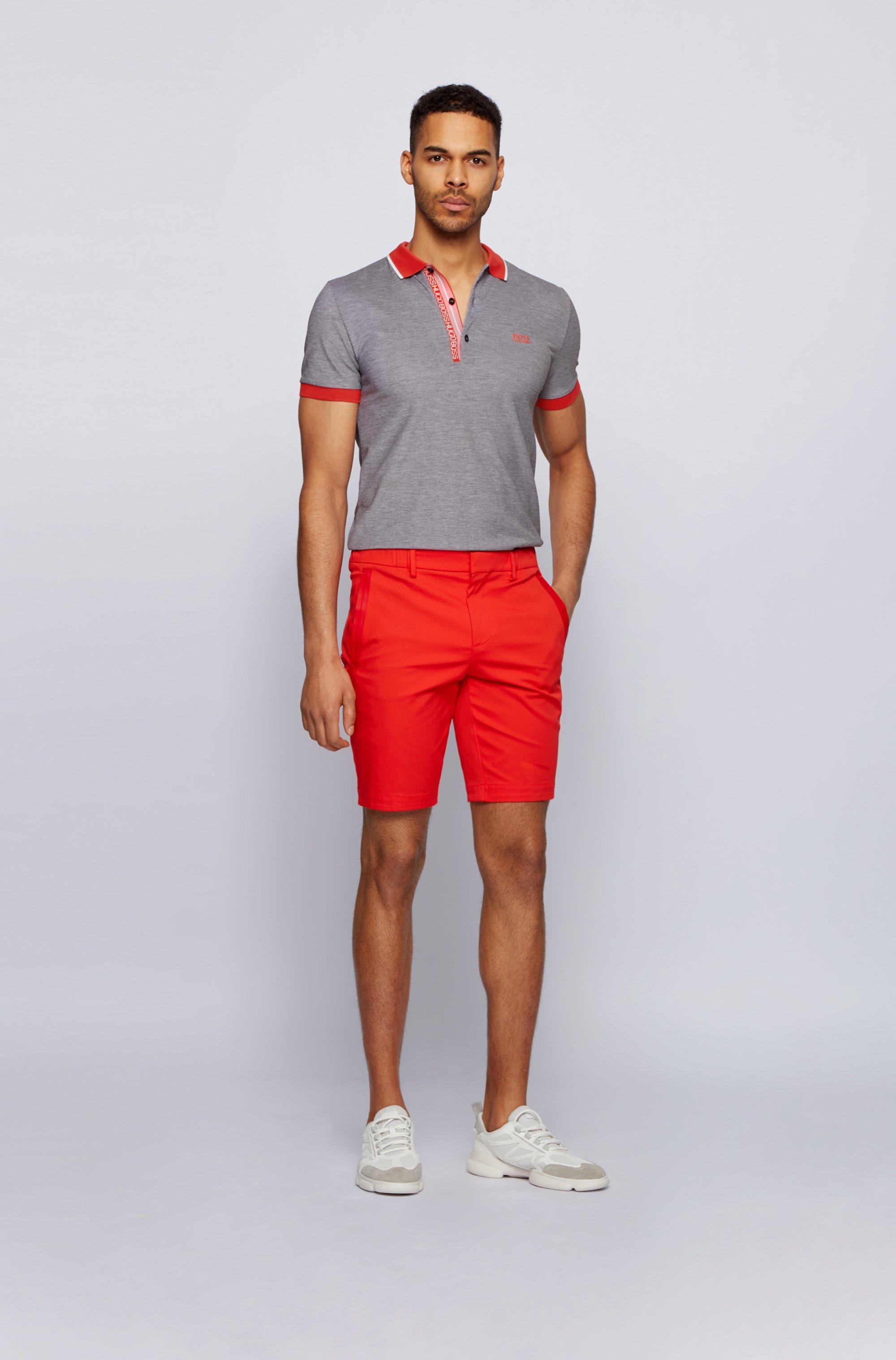 Polo Slim Fit en piqué de coton Oxford avec patte de boutonnage à ruban logo