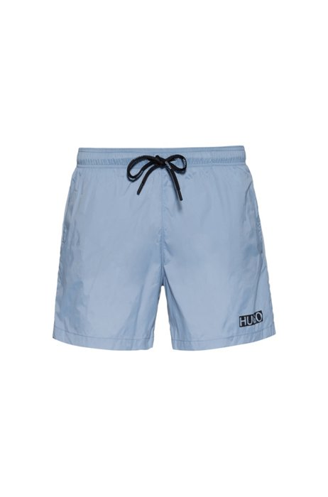 Fully lined swim shorts in quick-dry recycled fabric, Blue