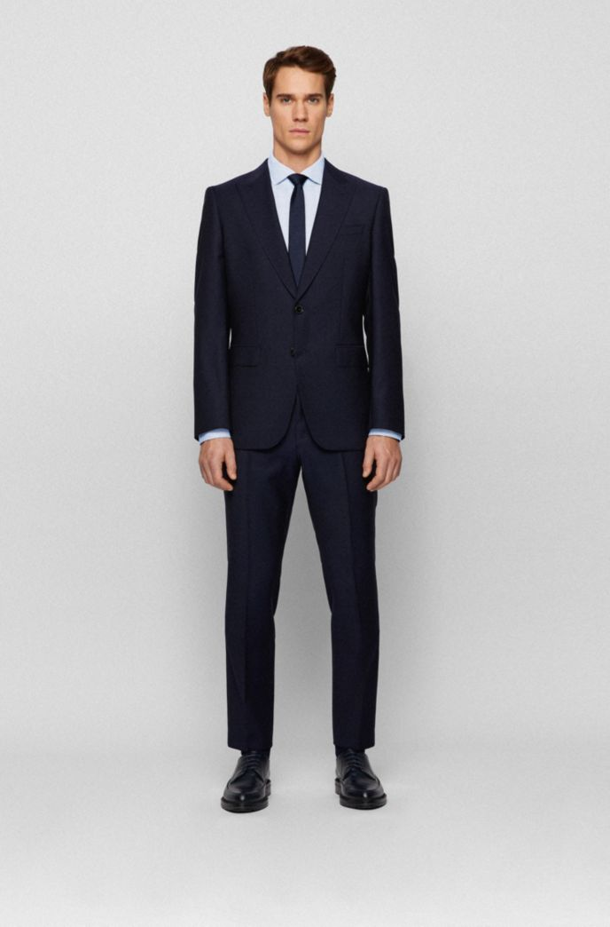 Slim-fit shirt in structured Italian performance-stretch fabric