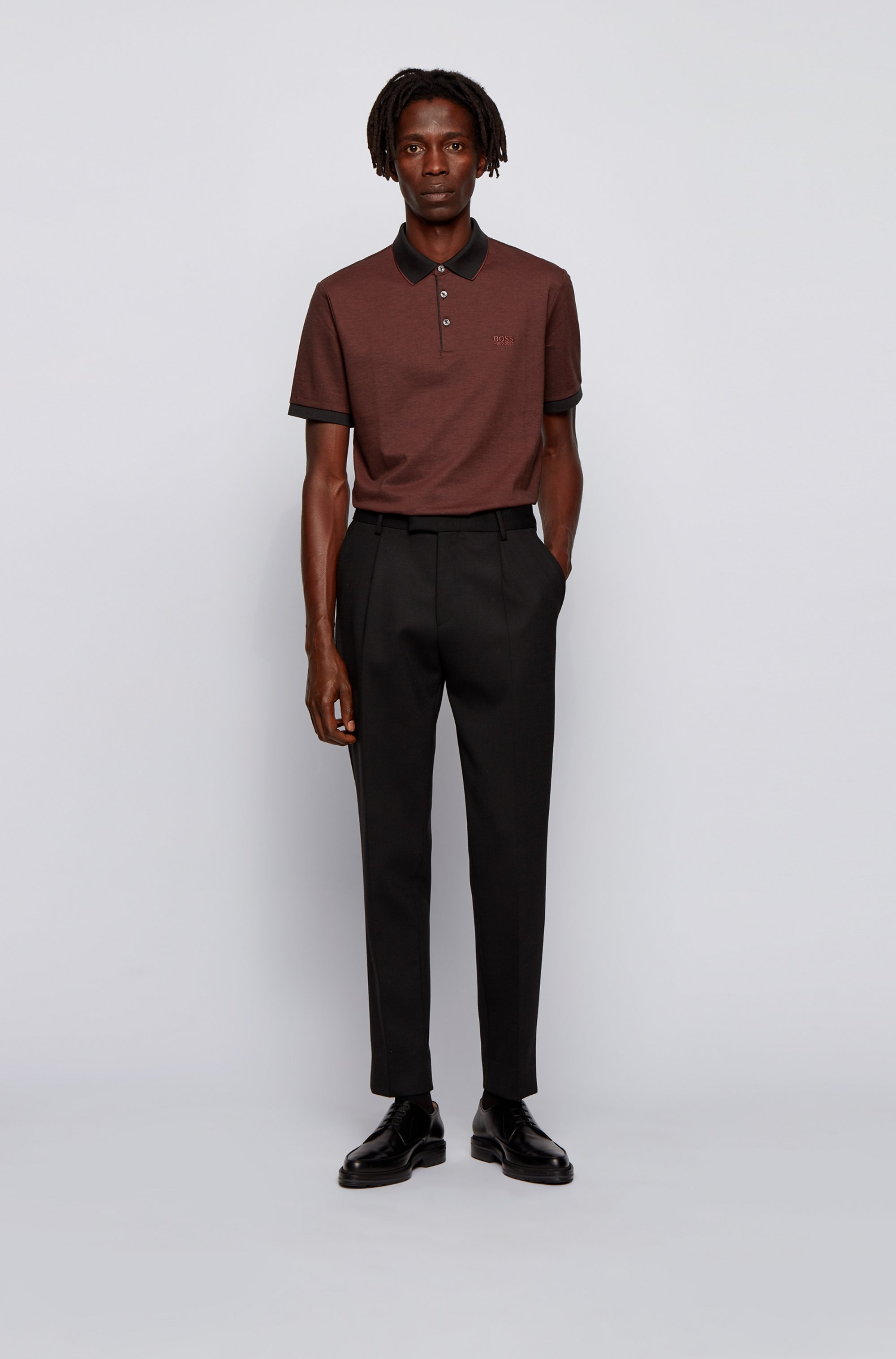 Polo shirt in Pima cotton with contrast details