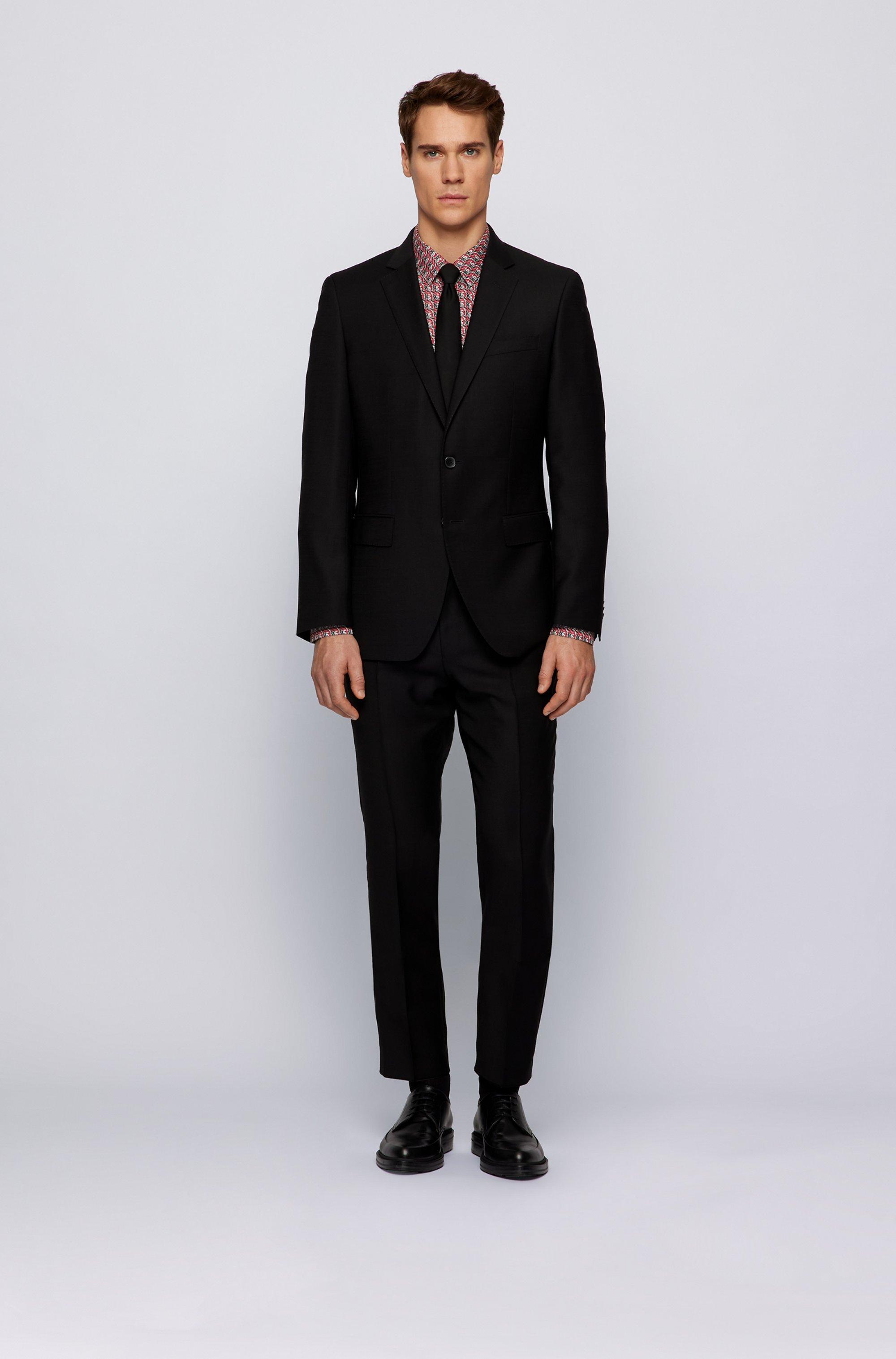 Slim-Fit Hemd aus italienischer Baumwolle mit Logo-Print