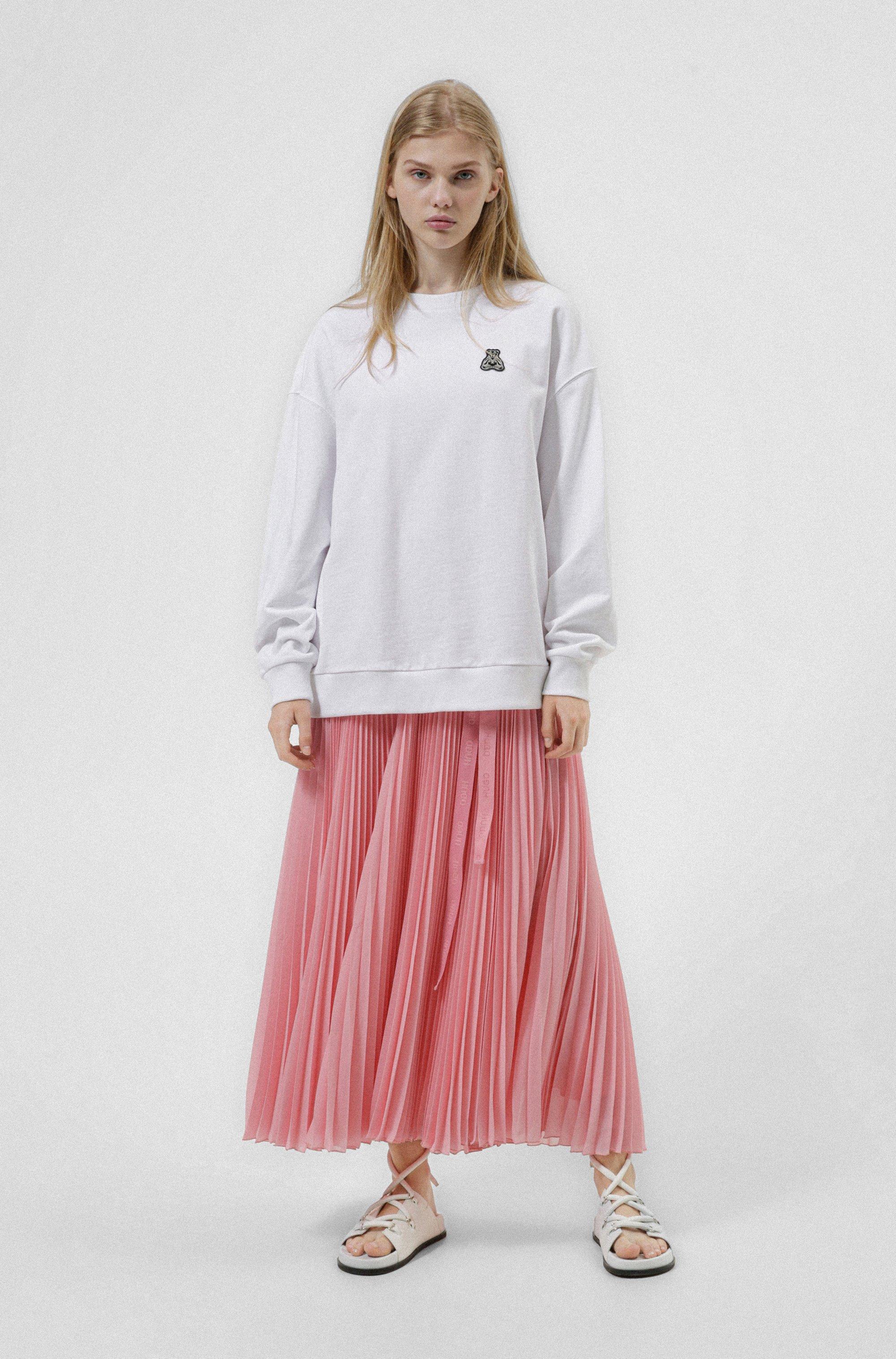 Relaxed-fit sweater van recot²® katoen met berenartwork