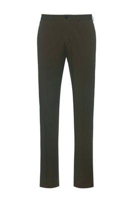 Extra Slim-Fit Hose aus funktionalem Stretch-Gewebe, Dunkelgrün