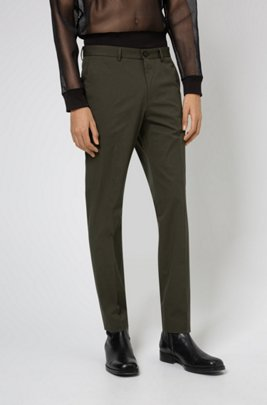 Extra-slim-fit trousers in performance-stretch fabric, Dark Green
