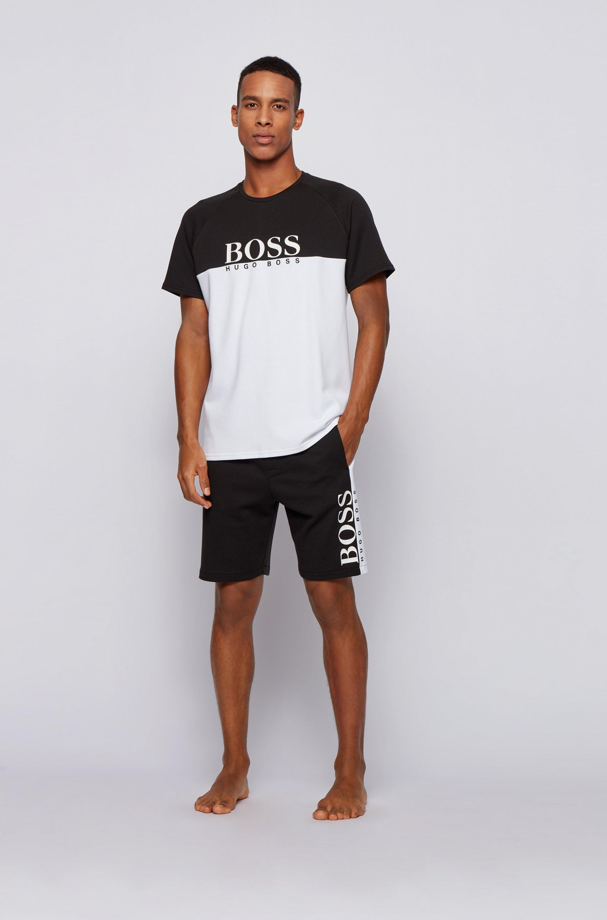Loungewear-T-Shirt aus doppelt gestricktem Baumwoll-Mix