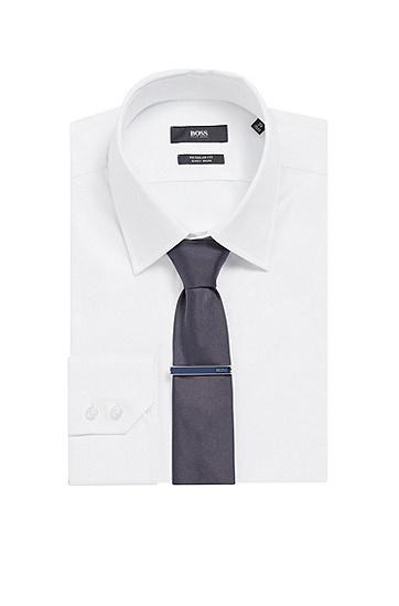 男士商务雕刻徽标领带夹,  410_海军蓝色