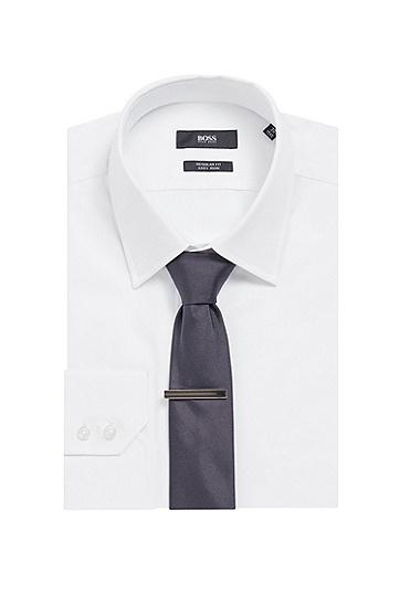 男士商务雕刻徽标领带夹,  030_中灰色