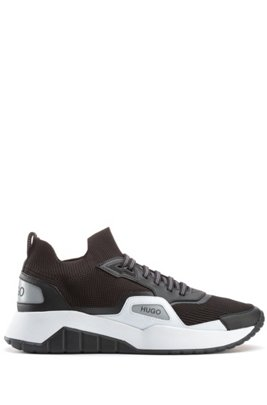 Sock trainers with recycled REPREVE® yarns, Black