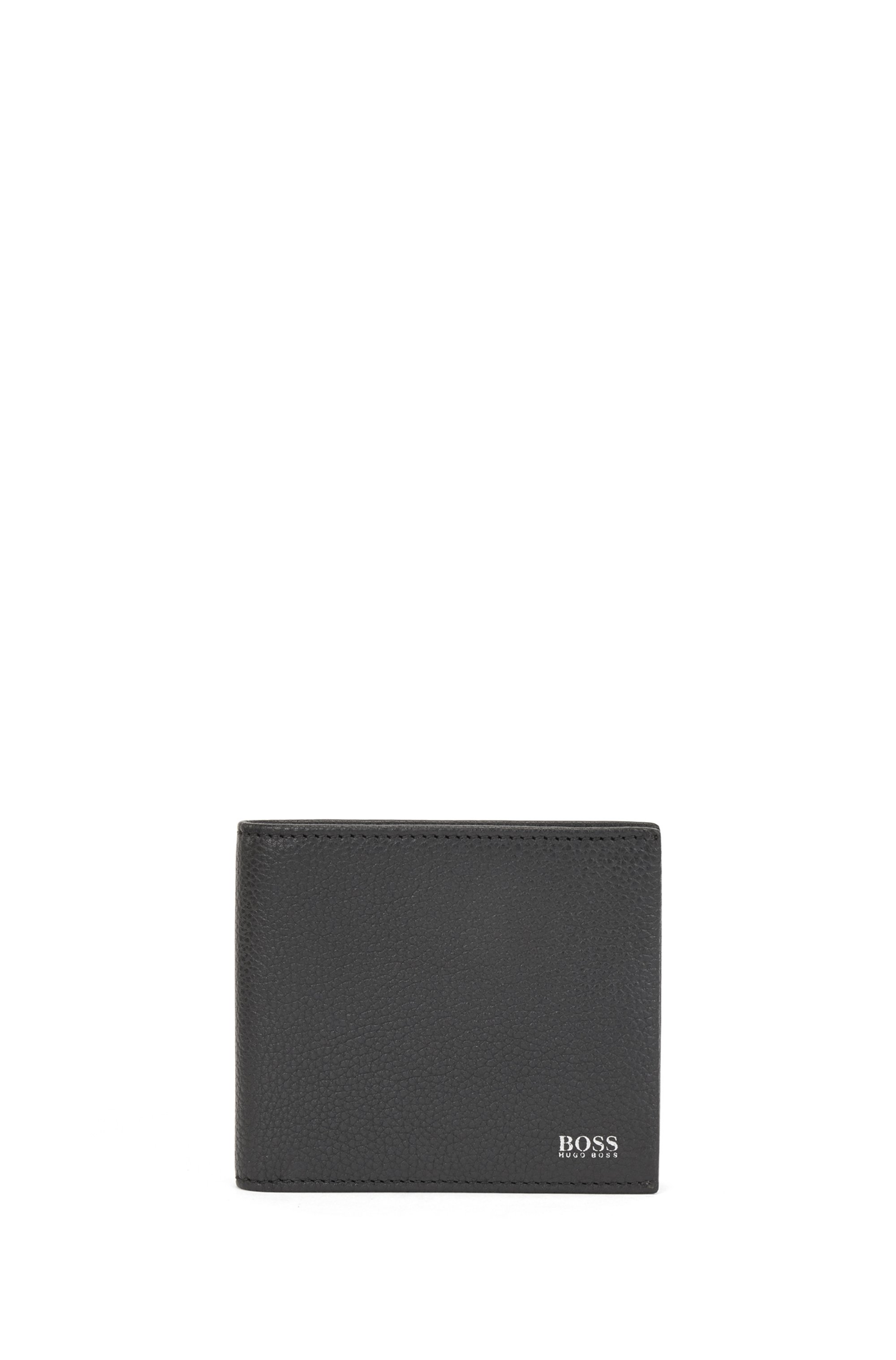 Grained leather wallet and card holder gift set