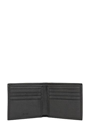 粒面皮革钱包卡包礼物套装,  001_黑色
