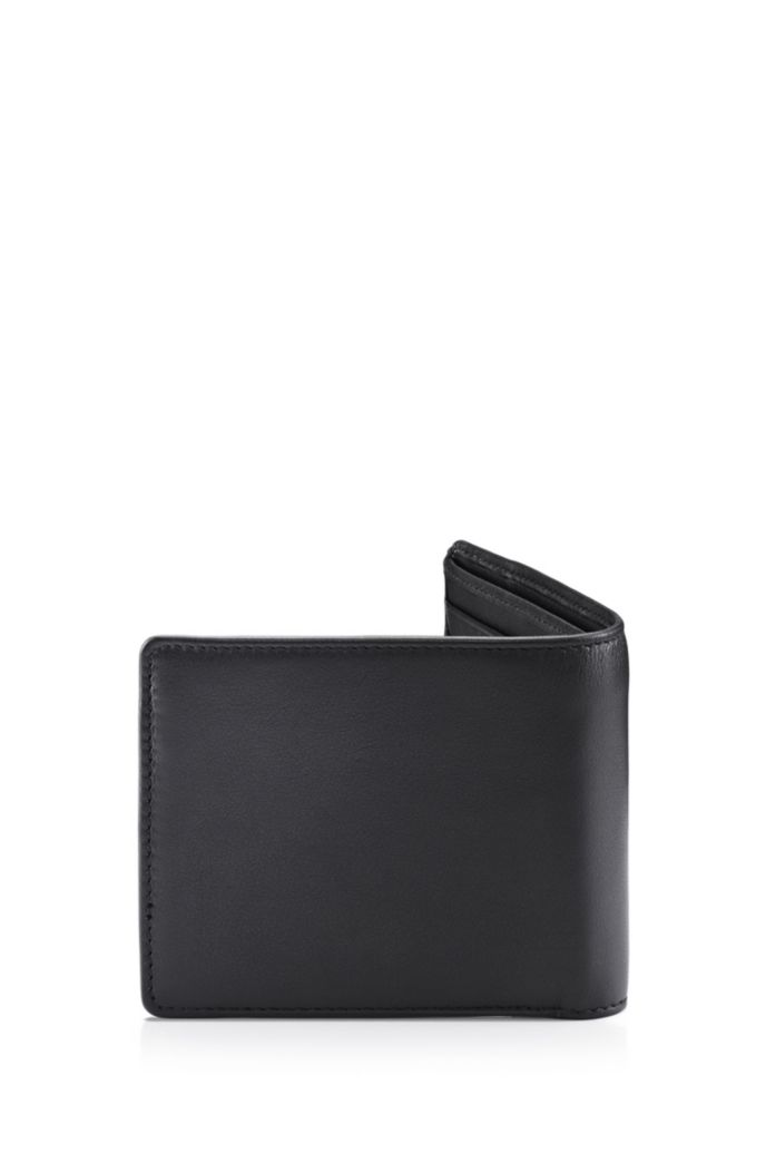 Billfold wallet in leather with debossed logo