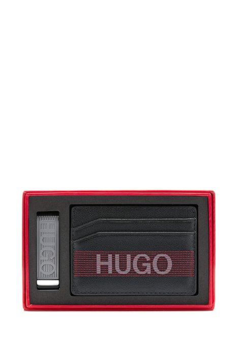 ギフトボックス カードホルダー&マネークリップ ロゴディテール, ブラック