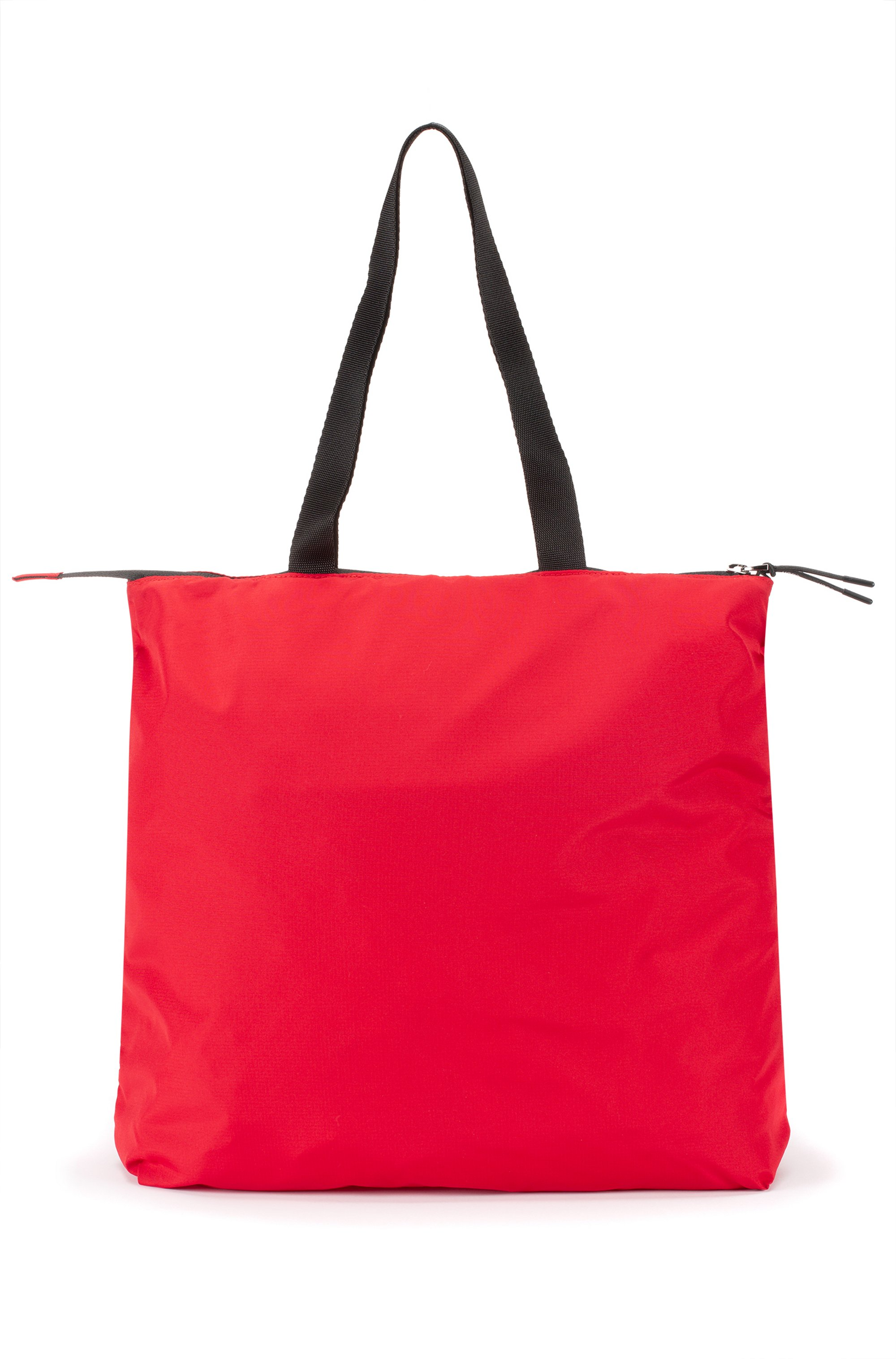 Packable recycled-nylon shopper bag with logo