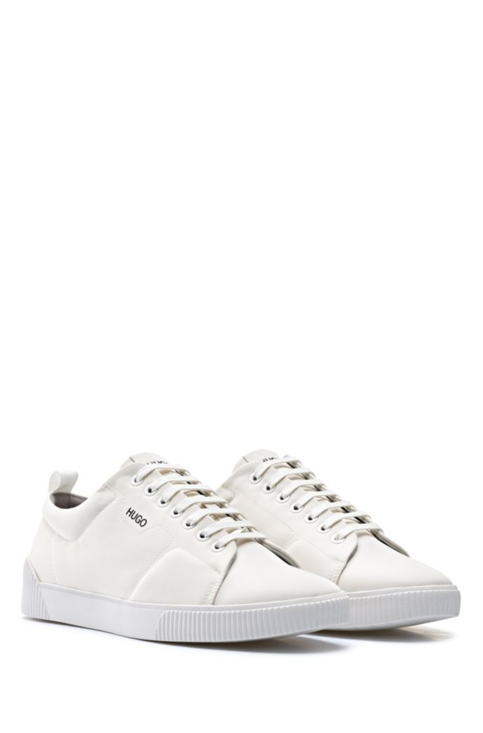 Padded nylon trainers with contrast logo