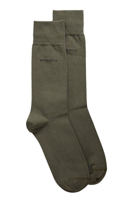 Two-pack of regular-length cotton-blend socks, Green