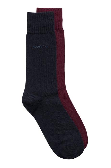 Two-pack of regular-length cotton-blend socks, Purple