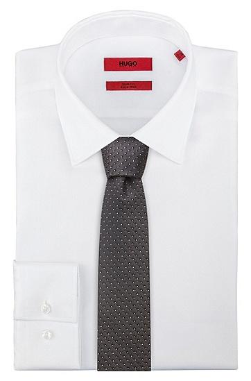 图案装饰真丝提花领带,  001_黑色