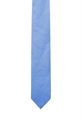 In Italië vervaardigde stropdas in een jacquard van zijde, Lichtblauw