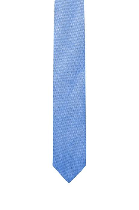 Italian-made tie in silk jacquard, Light Blue