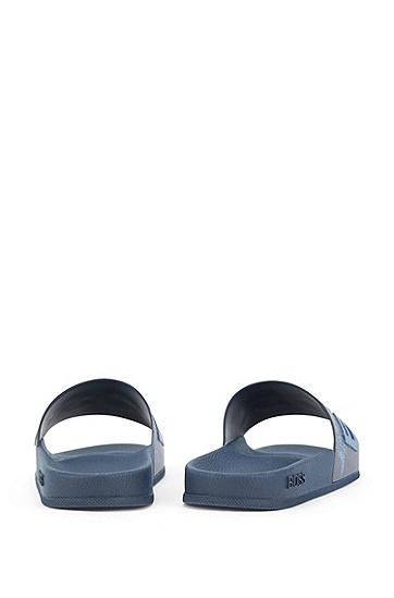意大利制造新季印花徽标拖鞋,  460_Open Blue