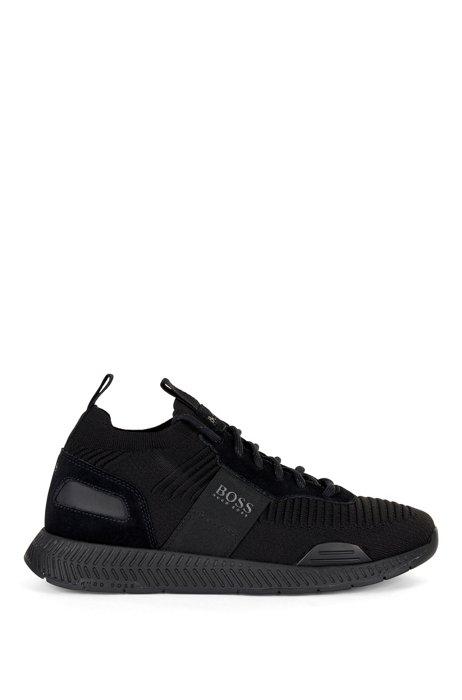 Soksneakers met gebreide bovenzijde van REPREVE®, Zwart
