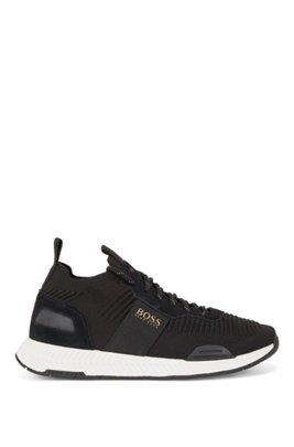 Sock-Sneakers mit REPREVE®-Strick, Schwarz