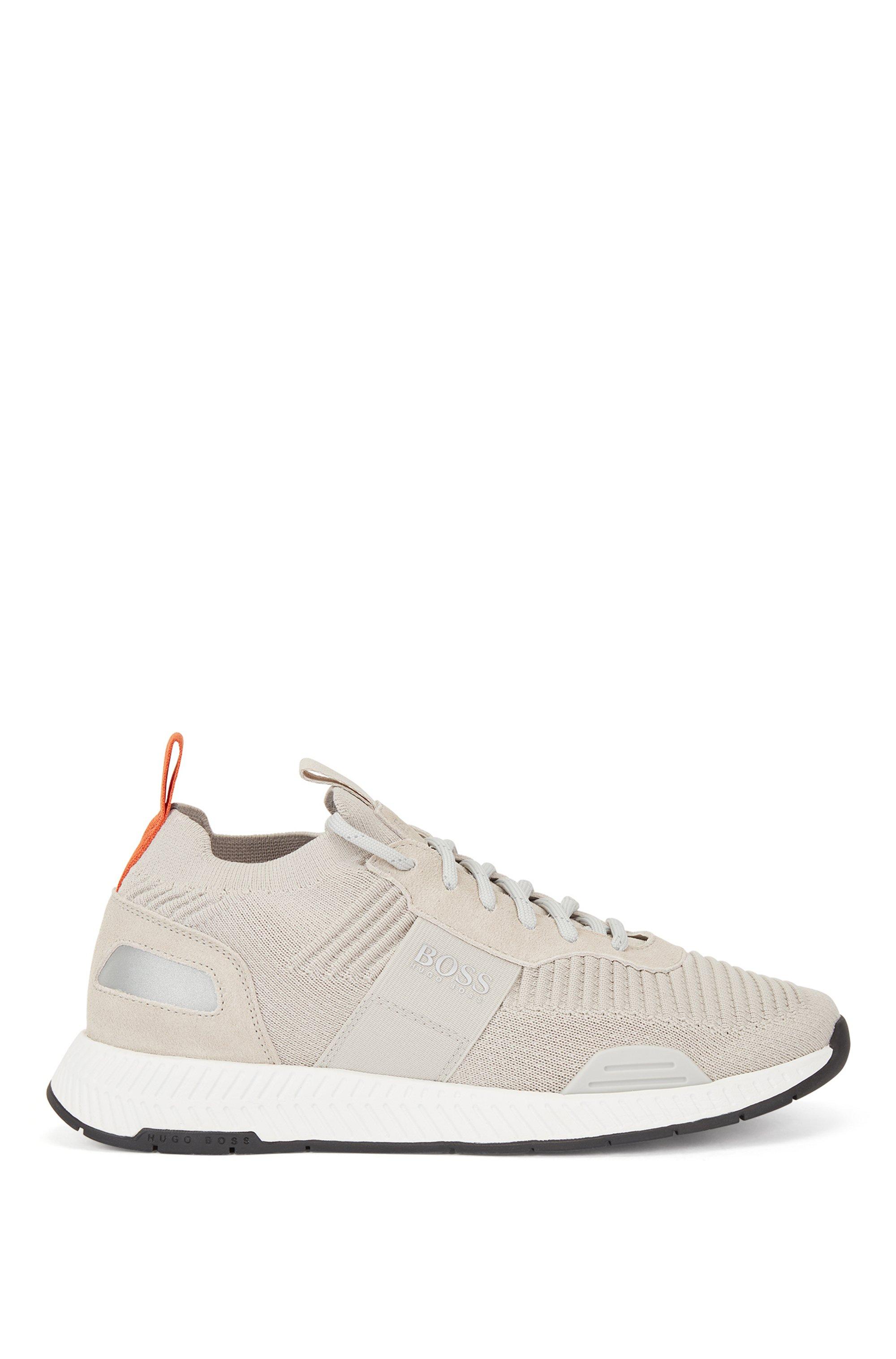 Baskets style chaussettes avec tige en maille REPREVE®, Beige clair