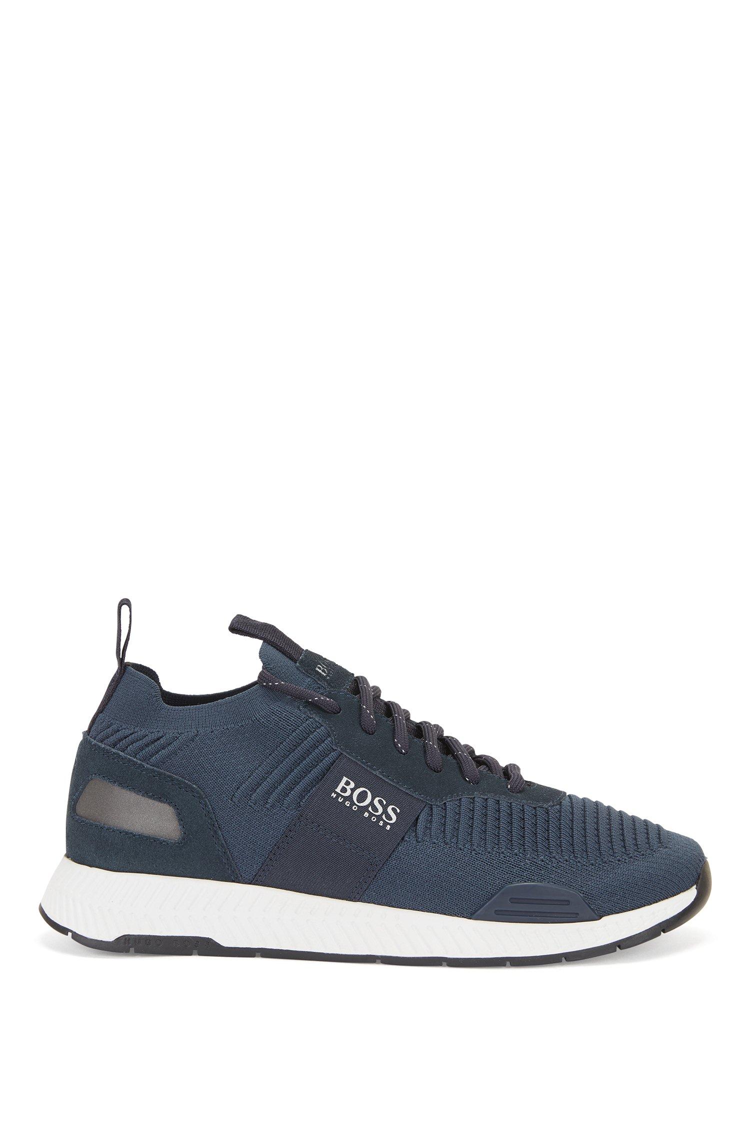 Baskets style chaussettes avec tige en maille REPREVE®, Bleu foncé