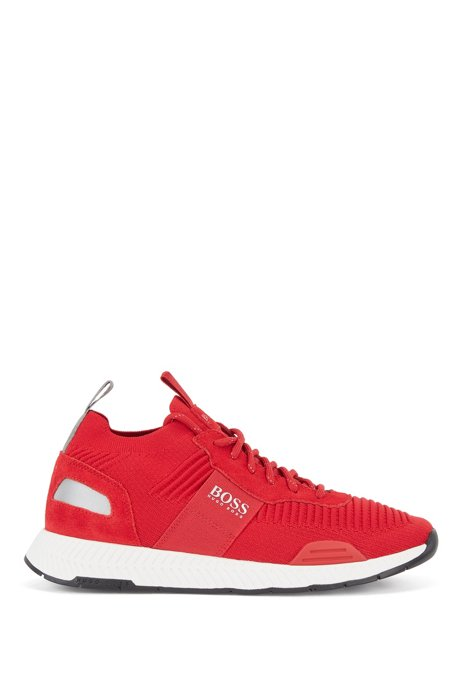 Sock trainers with knitted REPREVE® uppers, Red