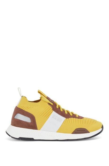 Soksneakers met gebreide bovenzijde van REPREVE®, Lichtgeel
